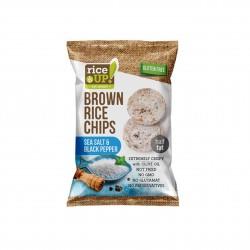 Rýžové chipsy mořská sůl a pepř Rice Up 60 g