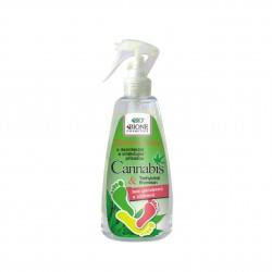 Sprej na nohy Cannabis s dezinfekční, změkčující přísadou Bione Cosmetics 260 ml