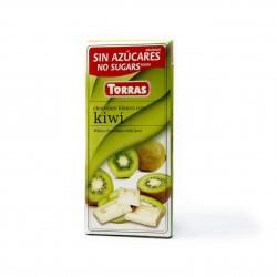Bílá čokoláda s kiwi Torras 75g