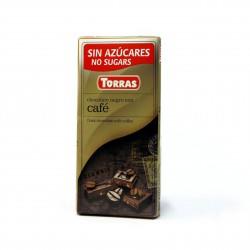 Hořká čokoláda s kávou Torras 75g