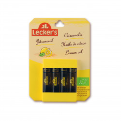 Citronové aroma BIO 4 x 2 ml Lecker´s