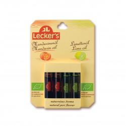Limetkové a mandarinkové aroma BIO 4 x 2 ml Lecker´s