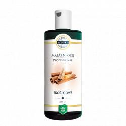 Skořicový masážní olej 200ml Topvet