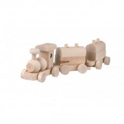 Dřevěný vláček s vagóny Čisté Dřevo