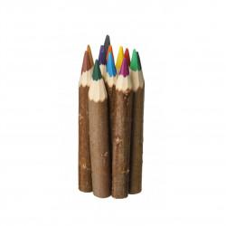 Dřevěné pastelky 12 barev Čisté Dřevo