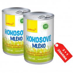 Kokosové mléko BIO 400 ml Wolfberry Akce 2+1