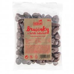 Brusinky v hořké čokoládě Medium 100 g