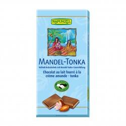 Čokoláda mléčná s náplní Mandle Tonka Rapunzel BIO 100 g